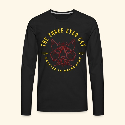 Look what the cat dragged in. - Men's Premium Long Sleeve T-Shirt
