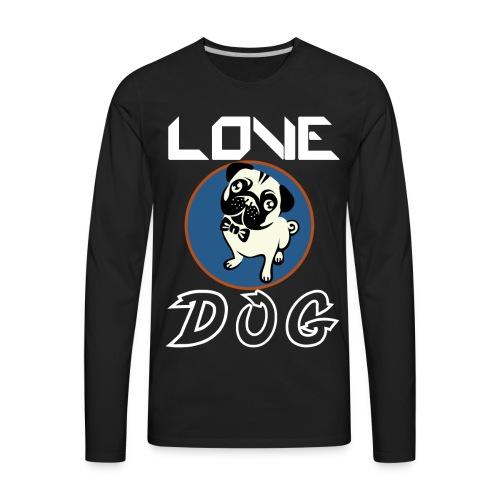 dog is love - Men's Premium Long Sleeve T-Shirt