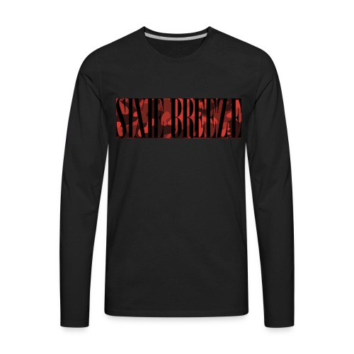 SIXIE CAMO RED BLACK - Men's Premium Long Sleeve T-Shirt