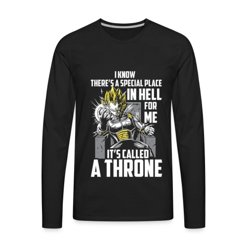 Dbz V Shirt - Men's Premium Long Sleeve T-Shirt