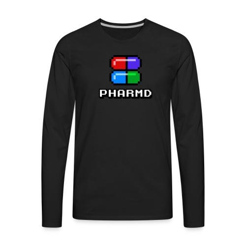 PharmD Stacked Logo - Men's Premium Long Sleeve T-Shirt