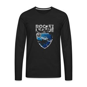 Rocket League Grunge T-Shirt - Men's Premium Long Sleeve T-Shirt