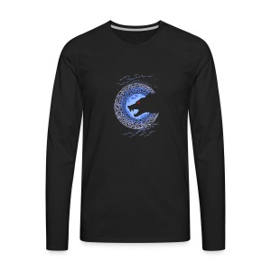 Fenrir Norse Wolf - Men's Premium Long Sleeve T-Shirt