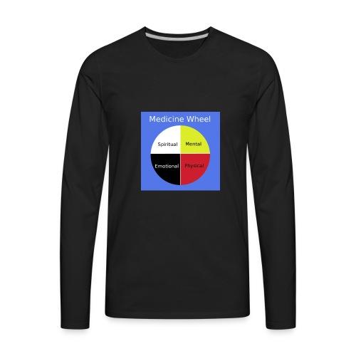 Native Medicine Wheel - Men's Premium Long Sleeve T-Shirt