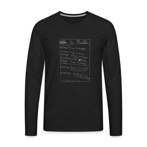 Play technology watch youtube white - Men's Premium Long Sleeve T-Shirt