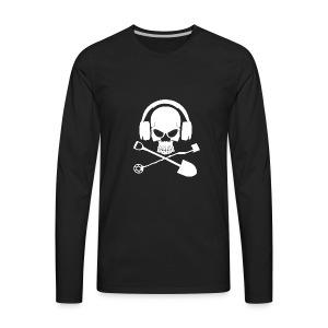 Silver Pirate Logo White LARGE TRANS - Men's Premium Long Sleeve T-Shirt