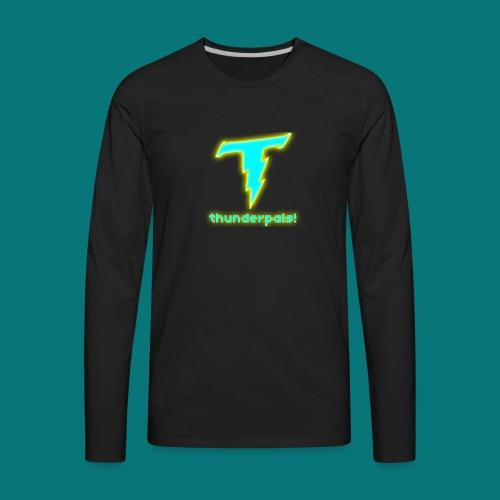 Thunder Pals Logo And Text - Men's Premium Long Sleeve T-Shirt