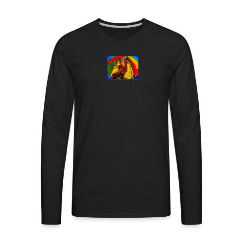 Rainbow Vintage Toy Riding Wonder Horse - Men's Premium Long Sleeve T-Shirt