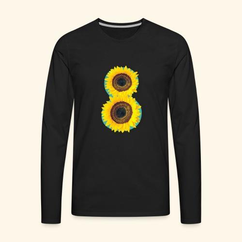 8 Exabytes Sunflower by GVD - Men's Premium Long Sleeve T-Shirt
