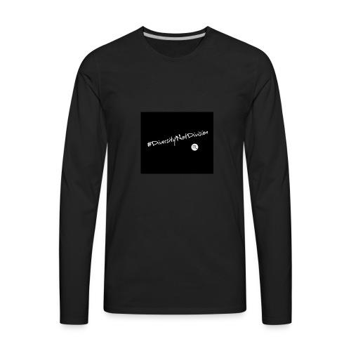 #DiversityNotDivision - Men's Premium Long Sleeve T-Shirt