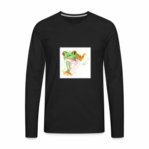 funny frog t shirt graphics frog illustration spl - Men's Premium Long Sleeve T-Shirt