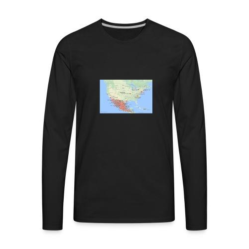 Taco_map - Men's Premium Long Sleeve T-Shirt