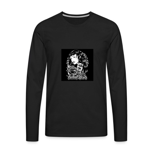 tribal amor t shirt black03 2197 - Men's Premium Long Sleeve T-Shirt