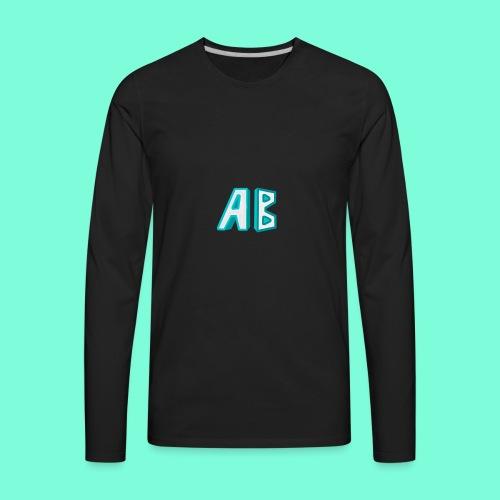 A Button Gaming Logo - Men's Premium Long Sleeve T-Shirt