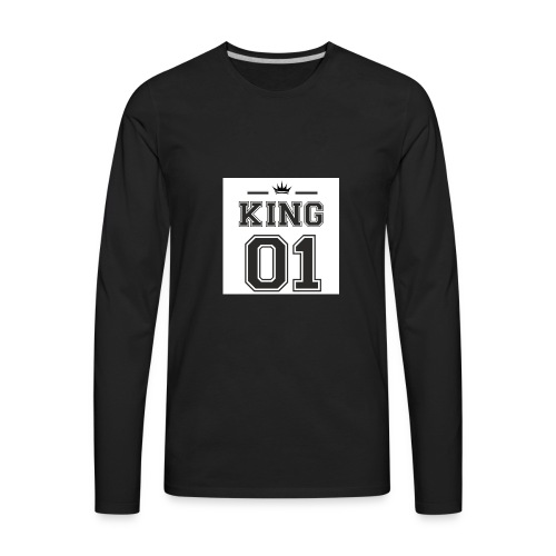 meska king 01 - Men's Premium Long Sleeve T-Shirt