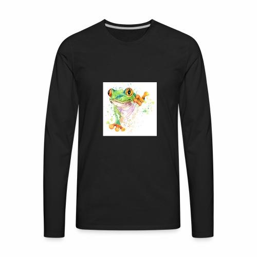 funny frog t shirt graphics frog illustration spl - Men's Premium Long Sleeve T-Shirt
