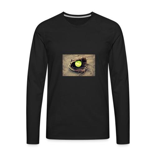 Softball hoddie - Men's Premium Long Sleeve T-Shirt