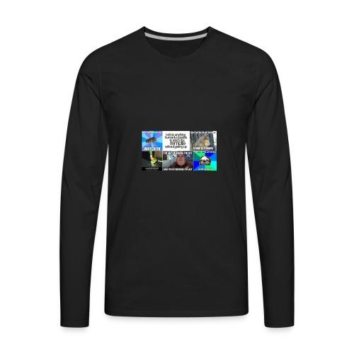 Hilarious Lazy Memes - Men's Premium Long Sleeve T-Shirt