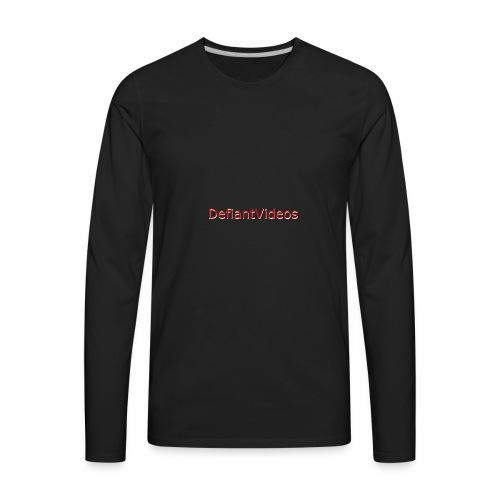 DefiantVideos Logo - Men's Premium Long Sleeve T-Shirt