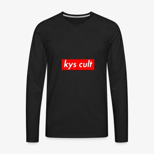 kys cult red - Men's Premium Long Sleeve T-Shirt