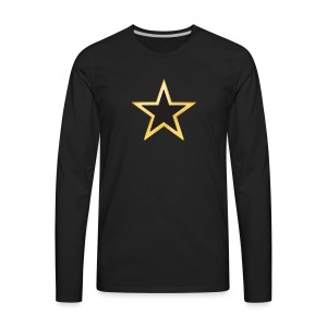 Gold and Black Star - Men's Premium Long Sleeve T-Shirt