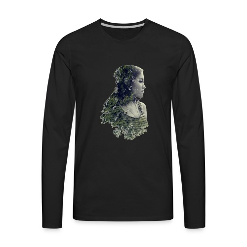 Woman Forest - Save the forest - Men's Premium Long Sleeve T-Shirt
