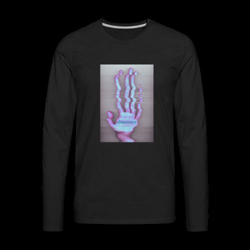 The Han[d] Zip Hoodies - Men's Premium Long Sleeve T-Shirt