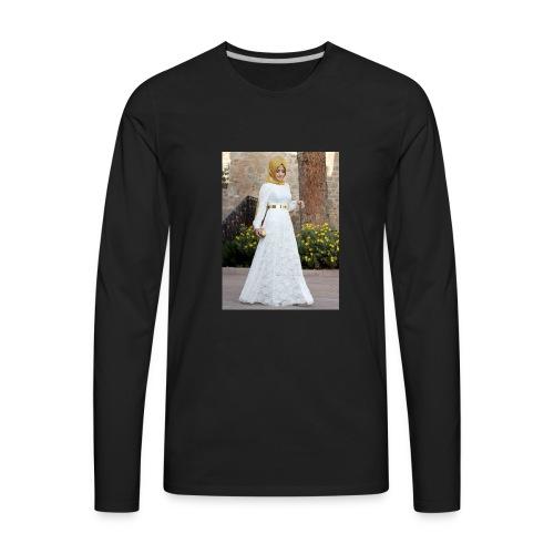 Muslim Hijab Girl - Men's Premium Long Sleeve T-Shirt