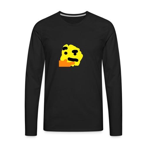 Thinking e moji - Men's Premium Long Sleeve T-Shirt