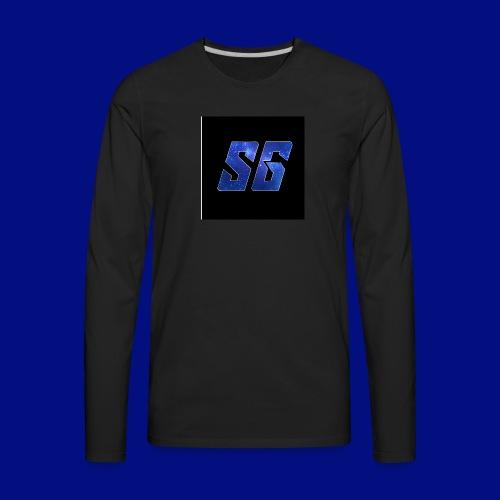Sideways Gamer Logo - Men's Premium Long Sleeve T-Shirt