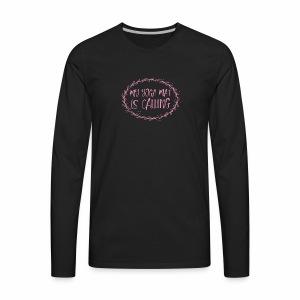 my yoga mat is calling - Men's Premium Long Sleeve T-Shirt