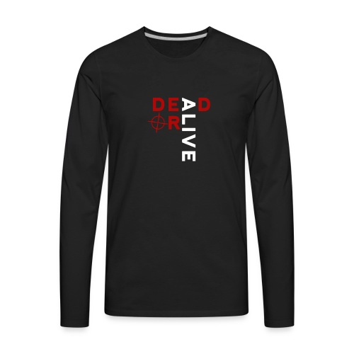 DEAD OR ALIVE LOGO - Men's Premium Long Sleeve T-Shirt
