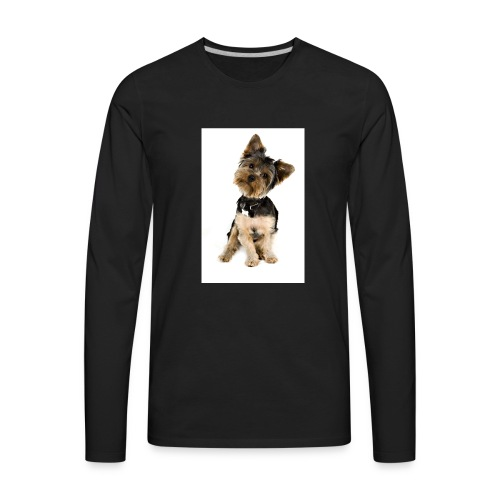 Curious pup - Men's Premium Long Sleeve T-Shirt