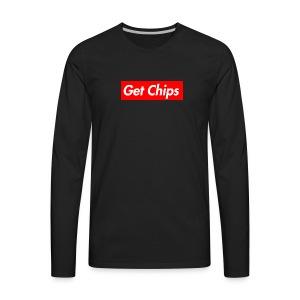 Get Chips Black - Men's Premium Long Sleeve T-Shirt