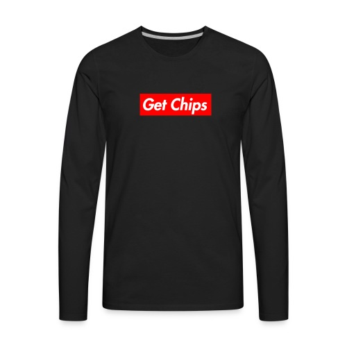 Get Chips Black - Men's Premium Long Sleeve T-Shirt