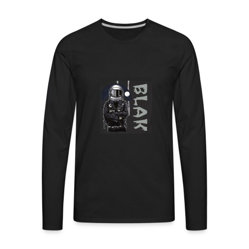 BLAK space bound - Men's Premium Long Sleeve T-Shirt