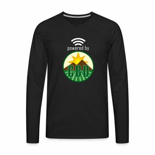 Powered By CBD - White - Men's Premium Long Sleeve T-Shirt