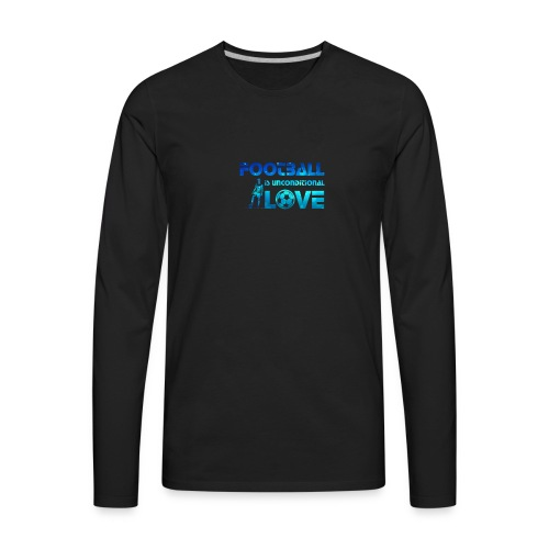 Football is Love - Men's Premium Long Sleeve T-Shirt