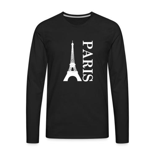 Menara eifell Paris Logo - Men's Premium Long Sleeve T-Shirt