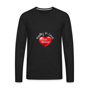 Madly In Love With Jesus - Men's Premium Long Sleeve T-Shirt