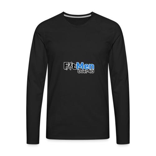 Fit Men Over 40 V-Neck Short Sleeve Shirt - Men's Premium Long Sleeve T-Shirt