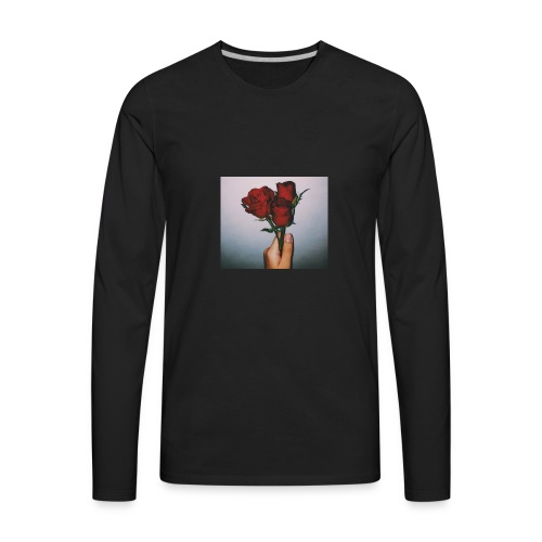 Dead Roses Hoddie - Men's Premium Long Sleeve T-Shirt