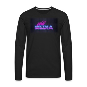 wlrd media 80s Aesthetic - Men's Premium Long Sleeve T-Shirt