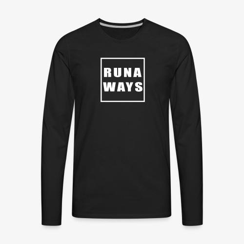 Runaways Box Logo - Men's Premium Long Sleeve T-Shirt