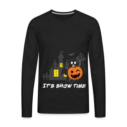 funny pumpkin constume, happy halloween day - Men's Premium Long Sleeve T-Shirt