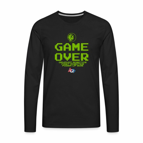 Game over shirt clear - Men's Premium Long Sleeve T-Shirt