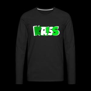 KRISS TEXT - Men's Premium Long Sleeve T-Shirt