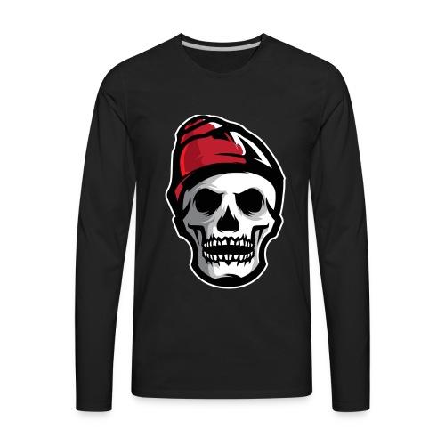 Custom Skull With Ice Cap Merch! - Men's Premium Long Sleeve T-Shirt