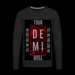 Demi Tell Me You Love Me Tour Shirt - Men's Premium Long Sleeve T-Shirt