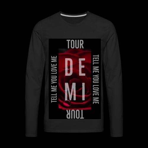 Demi Tell Me You Love Me Tour Shirt - Men's Premium Long Sleeve T-Shirt